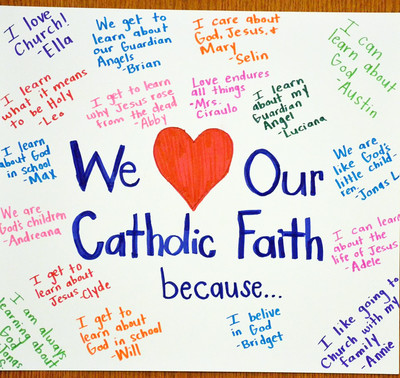 We love our Catholic faith